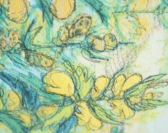 Yellow Rattle (Stitched Print)