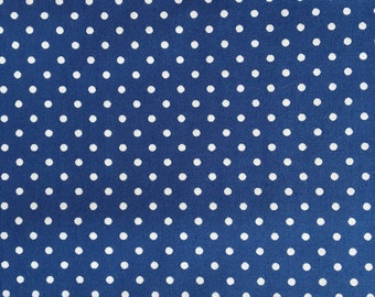 Sevenberry Fabric - Polka Dots (small) blue,brown,purple & red