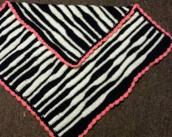 Zebra lap blanket