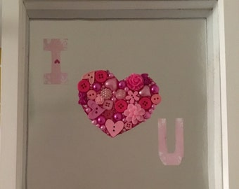 I love you valentines day picture frame