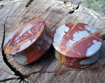35MM  Noreena Jasper Stone Plugs. 14mm wearable surface.