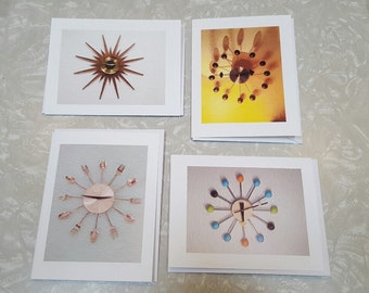 Mid Century * Note Cards/ Pack of 4    (It's About Time!)