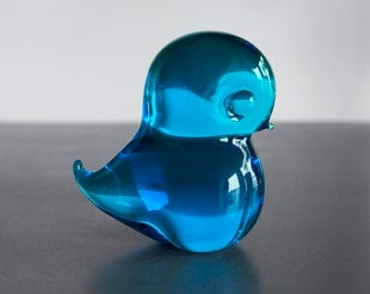 Pippi glass bird - FM konstglass sweden