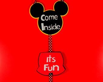 Mickey Mouse Door Sign - Mickey Mouse Birthday Door Sign - Mickey Mouse Birthday Welcome Sign- Birthday Party Welcome Sign - Mickey Mouse.