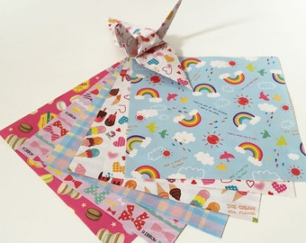 Origami Paper Sheets - Double-sided Girls Design Chiyogami - 60 sheets