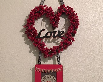 Heart Berry Wreath