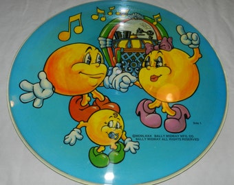 The Pac-Man Album picture disc / disk - Copyright 1980 - Limited Edition KPD 6012- Bally Midway - Ms. Pac-Man - Collectible Novelty LP  15-9