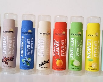 NATURAL LIP BALM, Organic Lip Balm, Beeswax Lip Balm, Pick Your Own