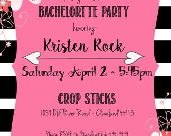 Bachleorette Party Invitation