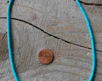 Sleeping Beauty Turquoise Heishi Necklace
