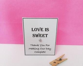 Love is sweet wedding favours