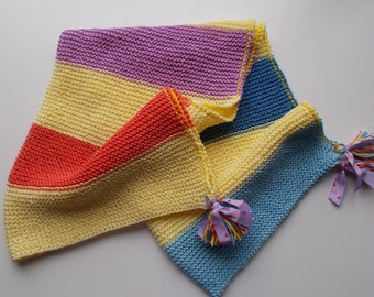 blanket, baby blanket made pure multicolor cotton hand