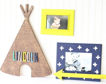 Personalized TeePee, painted teepee, teepee for kids room, trendy teepee, room decor, play room decor