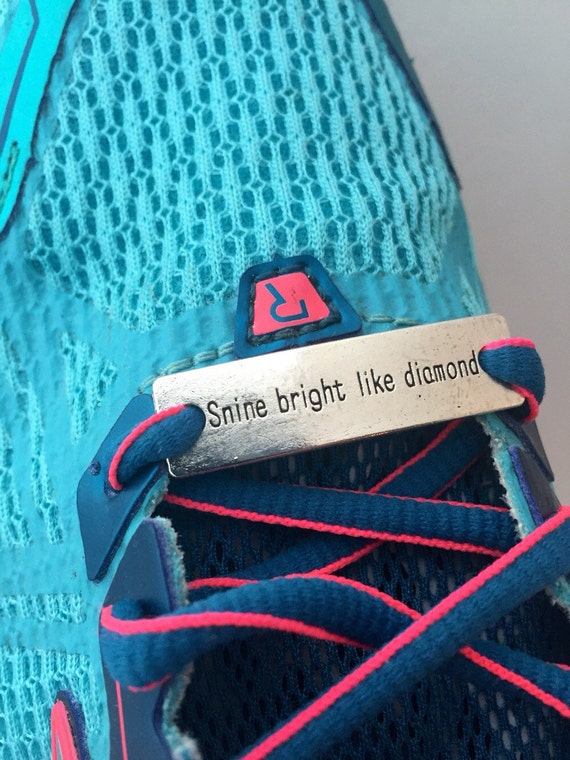 Running Shoe Tags, Shoelace Charms, Sports Shoe Lace Charm, Gifts for Runners Coach Team, Shine Bright, Motivational Jewelry, Race Swag Bags