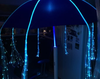 Light Up Umbrella Shaft and Fiber Optic Lights