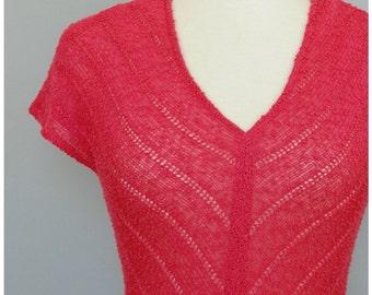 Fushcia 70s Knit Dress