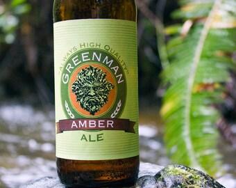 Greenman Beer Label, Greenman, Beer Label, Home Brew Label, Home Brew, Home Brewing, Beer, Ale, IPA, Stout, Digital Print, Instant Download