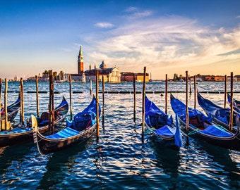 Color photography - Venice photography - venice print - Venice Art print - Gondola fine art - Gondola print - Venice wall decor