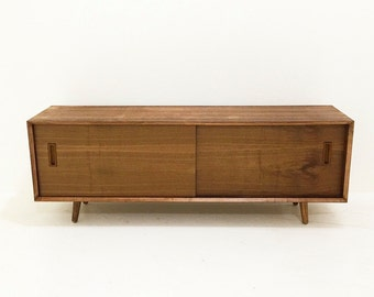 Low Profile Walnut Credenza