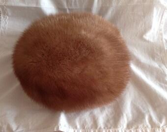 Mink Hat. Vintage Mink Fur Hat