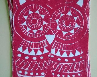 Owl A4 Lino Print
