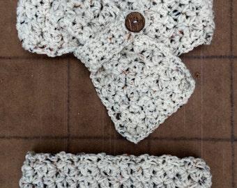 Crochet Scarf and Headband Set