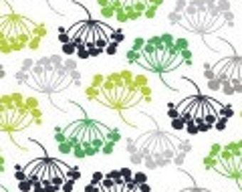 Camelot Fabrics - The Green with Envy - White Floral