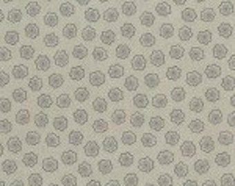RJR Fabrics - Taupe Flower (RJR090516) Sand and Stone - Cotton fabric by the yard