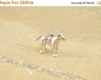 ON SALE 3D Dog Charm / Pendant Sterling Silver 6.1g Vintage Estate