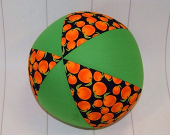 Balloon Ball Fabric, Balloon Ball Cover, Portable Ball, Travel Ball, Inflatable, Sensory, Special Needs,Oranges, Green, Kids, Eumundi Kids