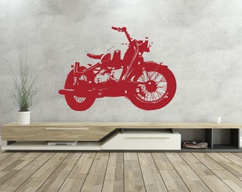 BMW -Cafe Racer - Vinyl Wall Decal - Motorcycle