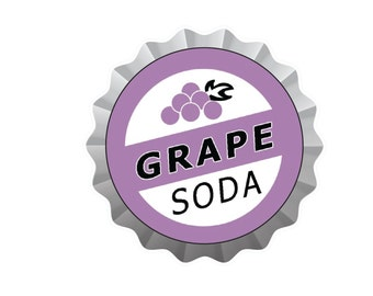 Grape Soda Pin Decal