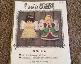 """Pattern for stuffed 21"""" angel/fairy"""