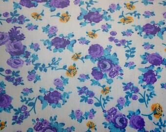 Floral Print 4 way stretch Mesh Fabric