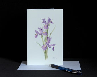Blue Iris, Mothers Day, Blank Greeting Card, Birthday, Thank You card, Anniversary card, New Home card, Note card, Sympathy Card