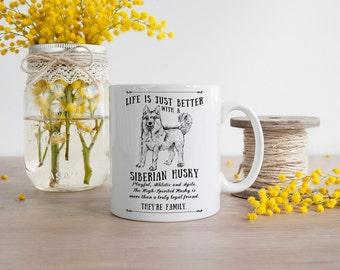 Siberian Husky Mug ~ Perfect Gift can be personalised