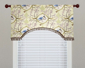 Priority Home & Design Bluebird Vignette Toile Custom Valance