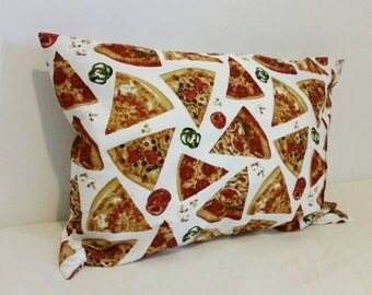 One (1) - 100% Cotton Snack Food Pillowcase - Pizza