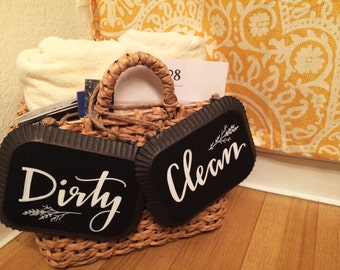 Laundry Signs, clean and dirty, home signs