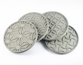 Japanese Pattern Coaster Set of 4