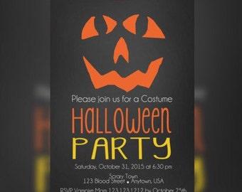 Costume Halloween Party Birthday Invitation - Halloween kids birthday Invitations - Halloween Bash Party Invitations