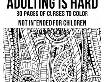 Adulting coloring pages ~ Popular items for coloring for adults on Etsy