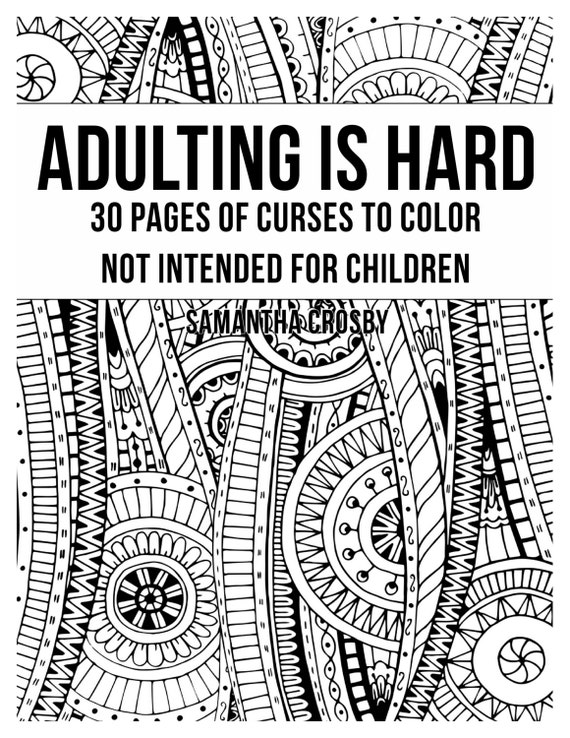 Curse word adult coloring book by obscenedesigns on etsy Coloring book for adults naughty coloring edition