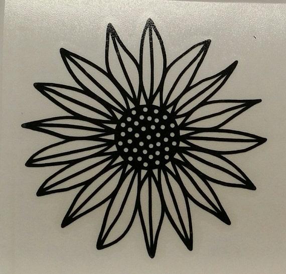 Sunflower Vinyl Decal Sunflower Flower Yeti Decal Car