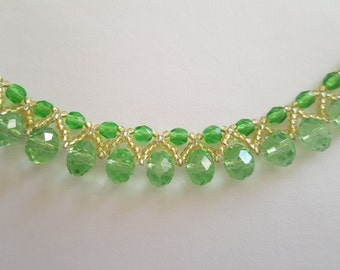 Emerald Glass Elegance Necklace