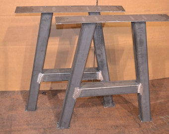Metal Table Legs, A-Frame Style - Any Size and Color!