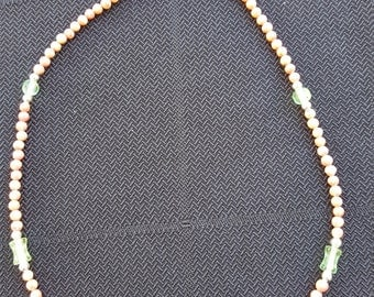 Glass and stone bead decklace