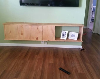 Hand made floating entertainment center.
