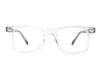 Wayfarer Hipster Glasses Frames Retro Eyeworks Pico Clear/Black/Brown Vintage Style Eyeglasses