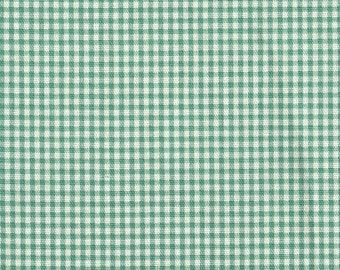 "72"" Round Tablecloth, Pool Green Gingham Check"